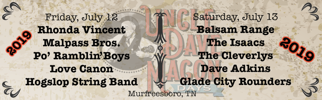 2019 Uncle Dave Macon Days Festival